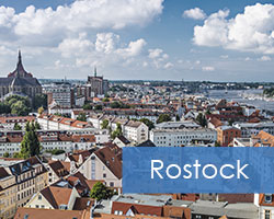 Street-Points in der Stadt Rostock